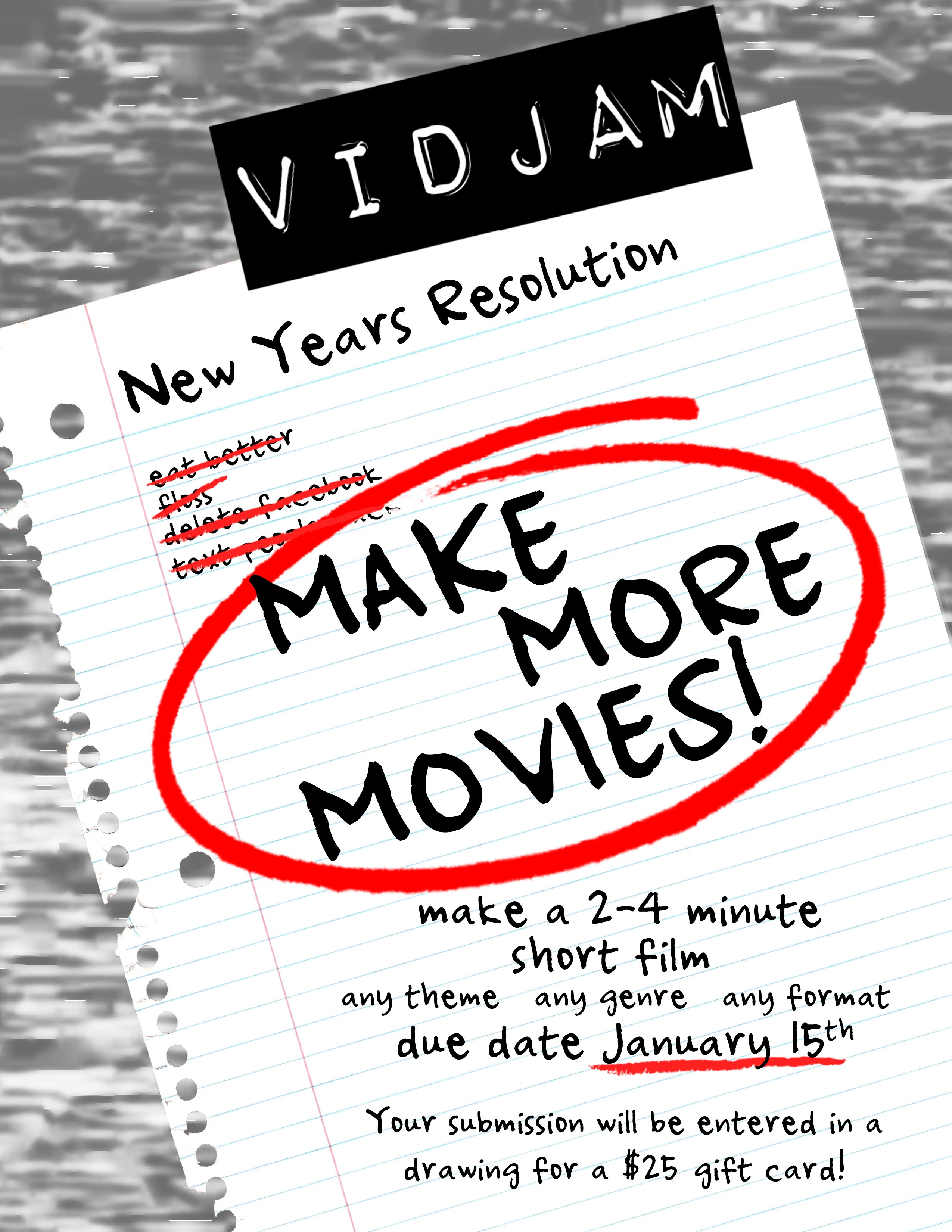 New Year's Resolution? MAKE MORE MOVIES!